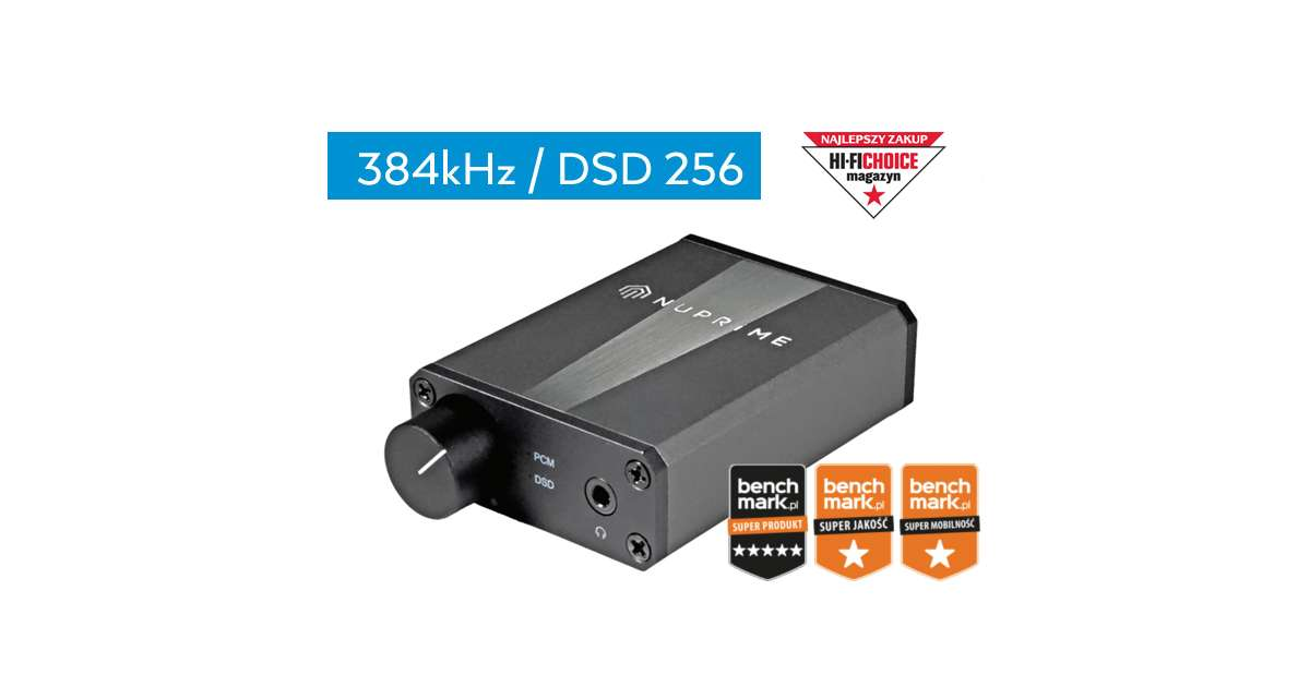NuPrime uDSD (u-DSD) Portable USB DAC 384 / DSD256 with headphone amp