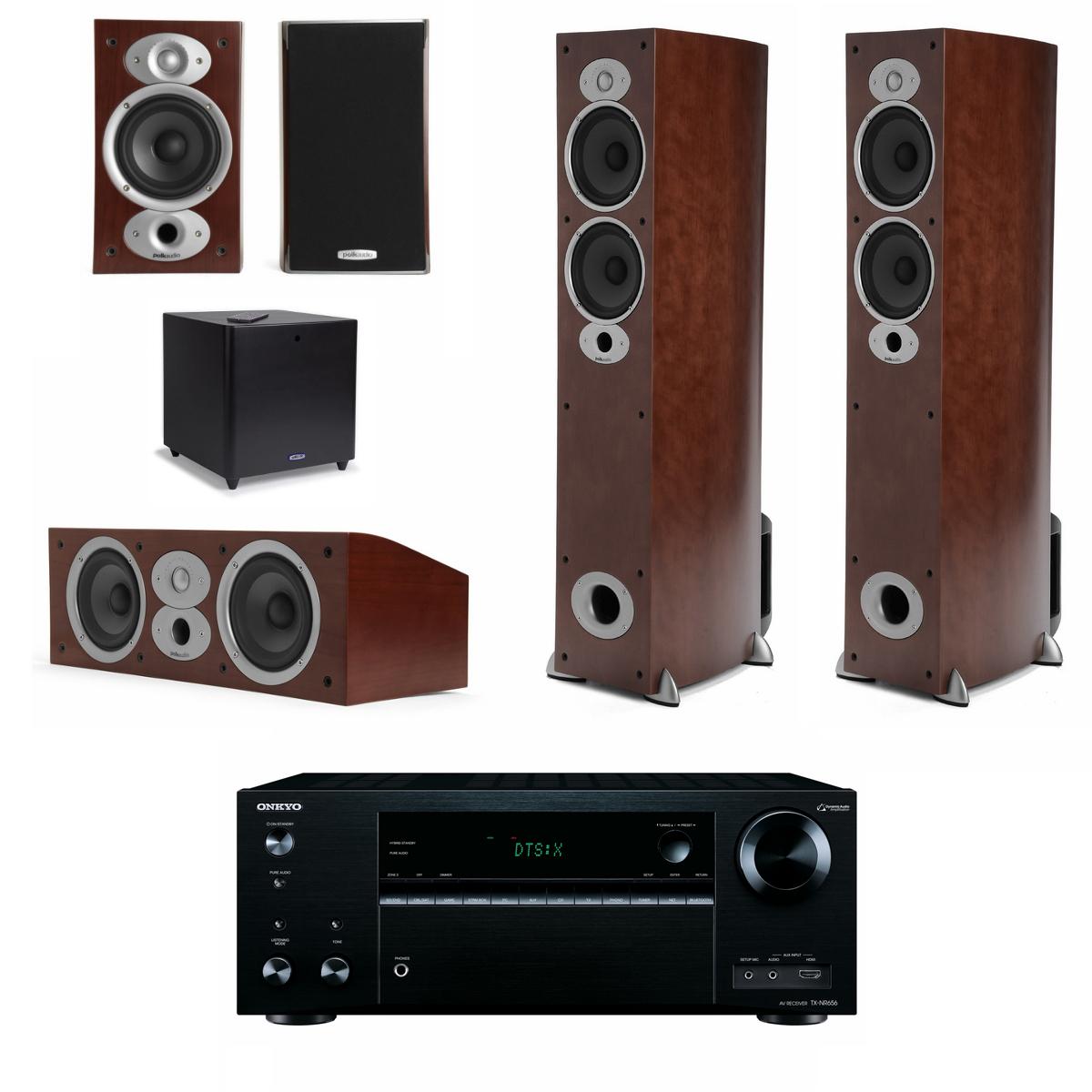 onkyo 5 1 home theater system. polk audio tsx 330hcsub (330 hc sub) 5.1 system + onkyo tx-nr656 5 1 home theater t